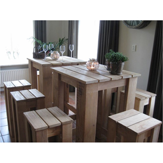 Robina High table set: 1 tafel & 4 stoelen